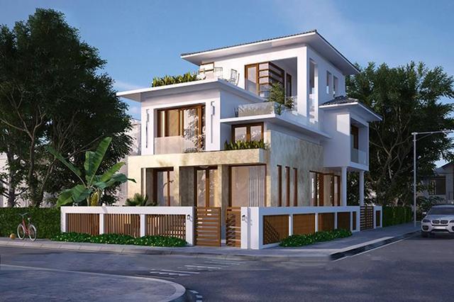 Mẫu bản vẽ thiết kế biệt thự 2 tầng đẹp cho gia chủ mệnh Kim