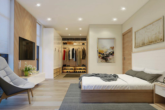 Đường nét tinh tế, trẻ trung tạo nên phòng ngủ đơn giản Hàn Quốc