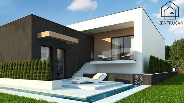 Biệt thự một tầng đẹp với kiến trúc đẹp mới lạ