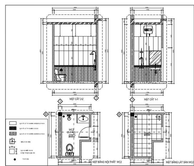 Bản vẽ chi tiết nhà vệ sinh