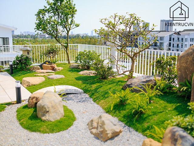 Vườn trên sân thượng đẹp thế này, ai chẳng mê