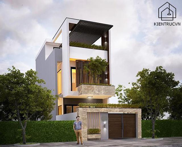 Thiết kế nhà phố đẹp cho mặt tiền nhỏ