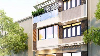 Mặt tiền mẫu nhà phố 3 tầng mặt tiền 7m