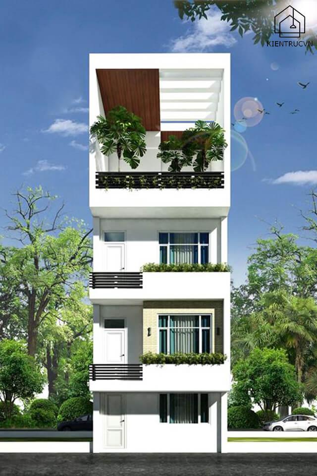 Nhà phố 3 tầng có sân thượng của gia đình anh Khánh