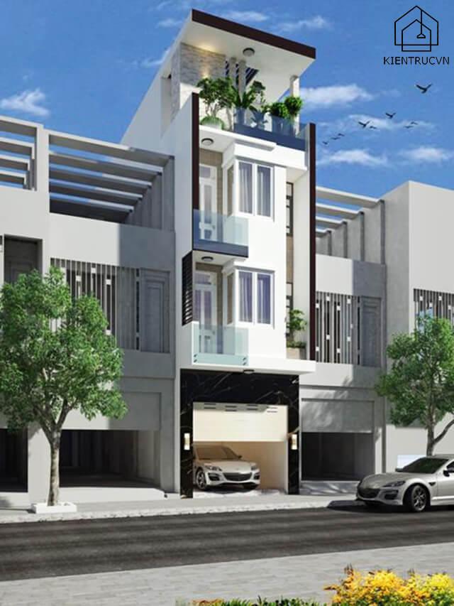 Nhà phố hiện đại 5×20 4 tầng đẹp mê li