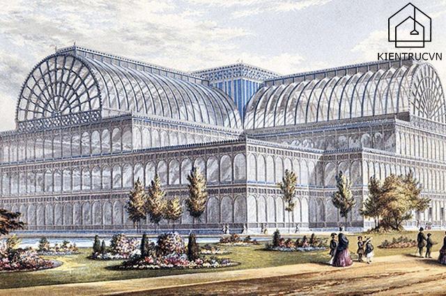 Phong cách hiện đại xuất hiện lần đầu tiên tại công trình nổi tiếng Crystal Palace