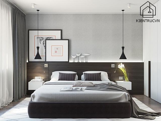 Phòng ngủ thiết kế tuyệt đẹp, đậm chất hiện đại