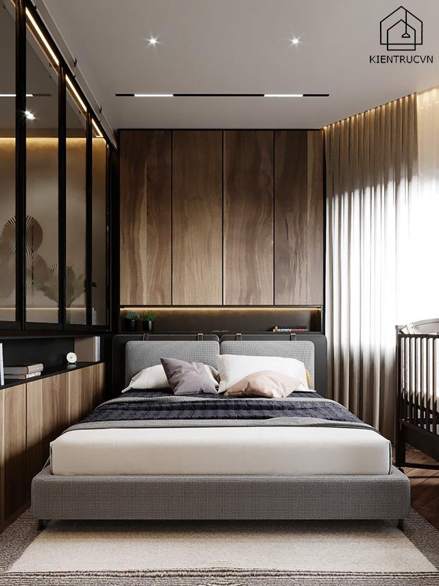 Nhà ống với thiết kế phòng ngủ khách sáng tạo