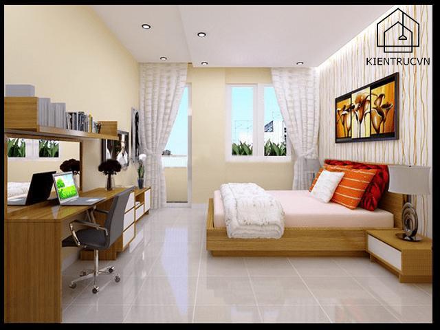 Thiết kế phòng ngủ đẹp cho nhà ống hiện đại 5m