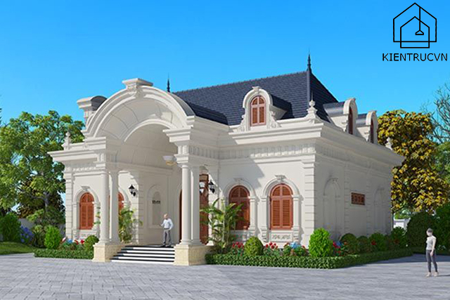 Biệt thự phong cách Pháp hiện đại đẹp mê li