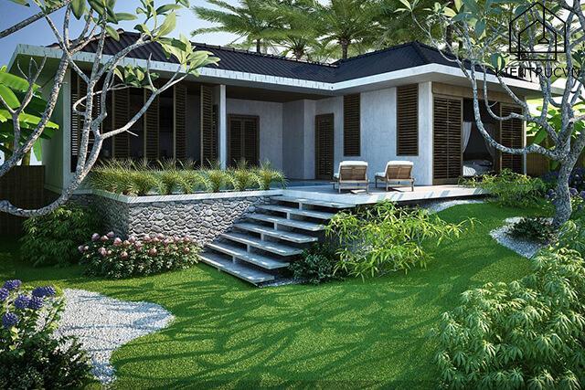 Biệt thự có sân vườn – sự lựa chọn hoàn hảo