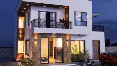 Mẫu thiết kế biệt thự mini 2 tầng đẹp 1