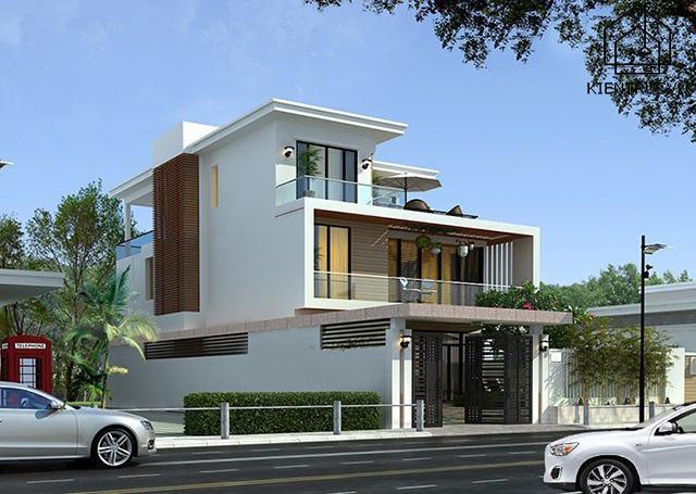 Mẫu thiết kế biệt thự mini 3 tầng 1