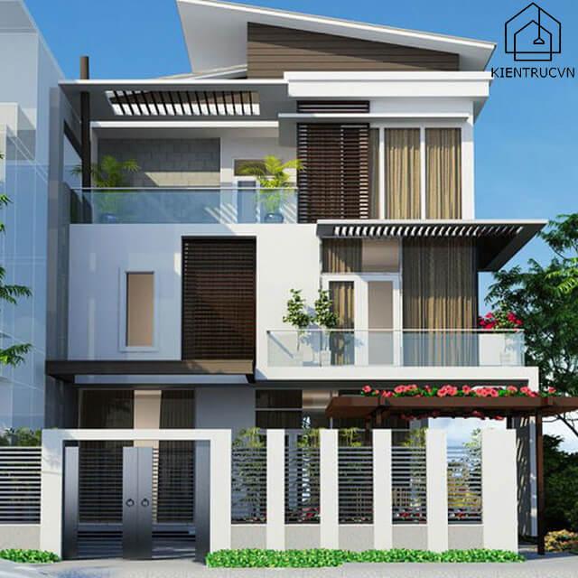 Mẫu thiết kế biệt thự mini 3 tầng 2