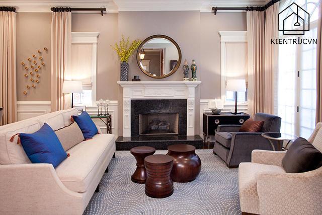 Nguyên tắc thiết kế nội thất không cân đối tạo không gian sống ít gò bó hơn