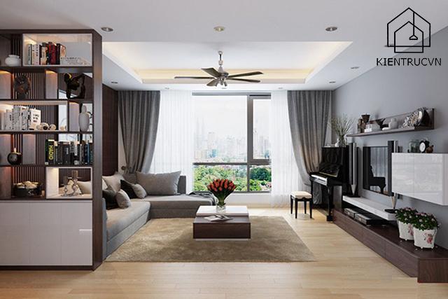Trang trí trần nhà chung cư cho không gian sống thêm độc đáo