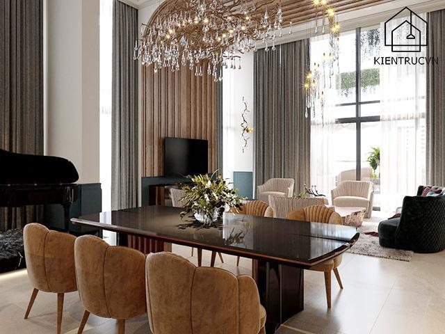 Mặc dù không có nhiều những chi tiết nhưng chất liệu của đồ nội thất lại rất cao cấp và tinh tế
