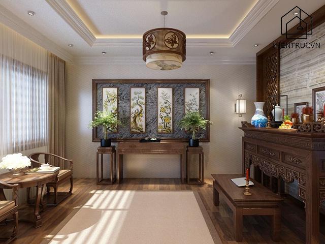 Lựa chọn kích thước bàn thờ phù hợp với diện tích phòng khách
