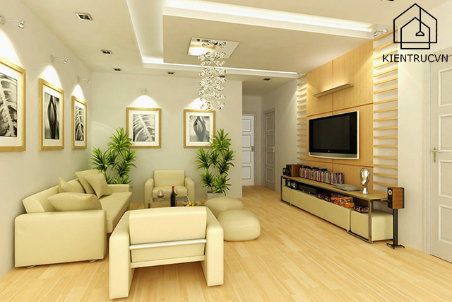 Sử dụng đèn trang trí trần nhà chung cư cho không gian sống tinh tế và đầy thẩm mỹ
