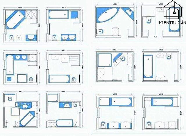Bạn có thể tham khảo một số cách thiết kế cho phòng tắm nhỏ chỉ từ 4m2
