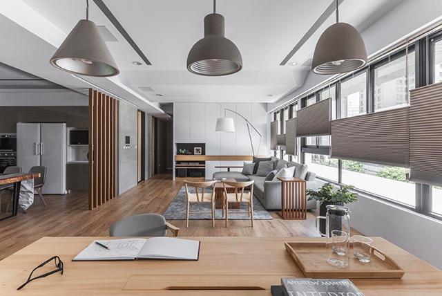 Thiết kế phòng khách liền bếp hiện nay phổ biến ở rất nhiều gia đình có diện tích không quá rộng