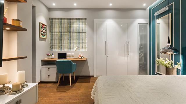 Phòng ngủ 20m2 cho một cá nhân sử dụng không cần quá nhiều đồ đạc gây cảm giác bí bách